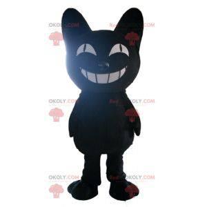 Maskotka duży czarny kot z uśmiechem - Redbrokoly.com
