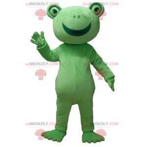 Bardzo uśmiechnięta maskotka zielona żaba - Redbrokoly.com