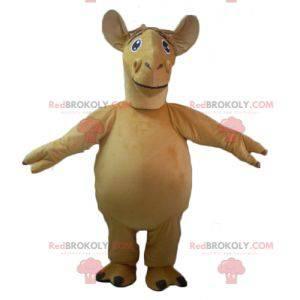 Mascote gigante camelo dromedário bege - Redbrokoly.com