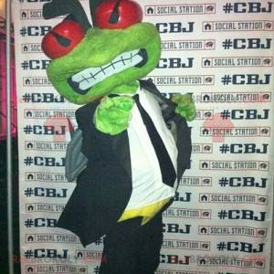 Green frog mascot suit and tie - Redbrokoly.com