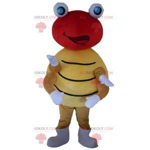 Rote und gelbe Tupfenmaskottchenmaskottchen - Redbrokoly.com