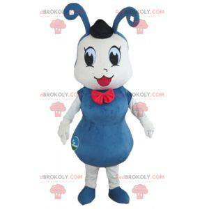 Blauw en wit insect mier mascotte - Redbrokoly.com