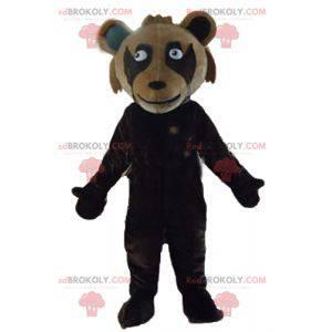 Obří dvoutónový hnědý medvídek maskot - Redbrokoly.com