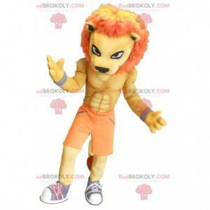 Muscular orange tiger mascot - Redbrokoly.com