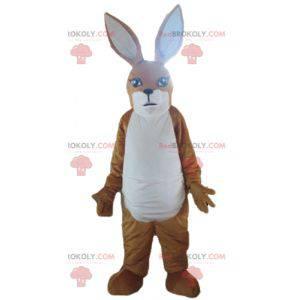 Kaninchen braunes und weißes Känguru-Maskottchen -