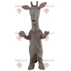 Girafa gigante mascote bege e marrom - Redbrokoly.com