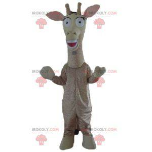 Reusachtige beige en bruine giraf mascotte - Redbrokoly.com