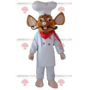 Ratatouille maskot slavný krysa oblečený jako kuchař -