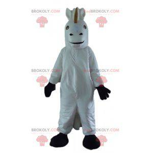 Maskot jednorožec bílý a černý kůň - Redbrokoly.com
