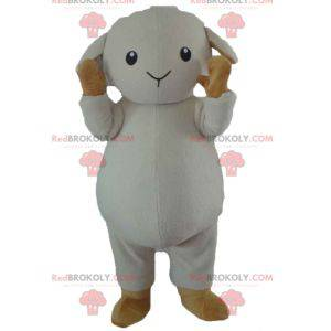Mascote de carneiro cordeiro marrom e branco - Redbrokoly.com
