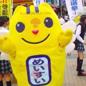 Pikachu yellow snowman mascot - Redbrokoly.com