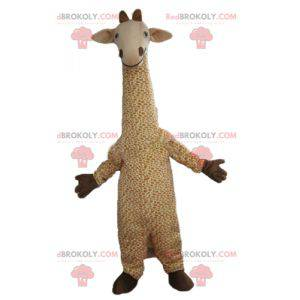 Gran mascota jirafa beige y blanca manchada - Redbrokoly.com