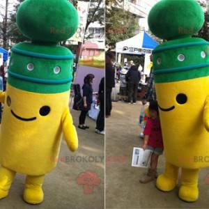 Roztomilý a usměvavý pól žlutý a zelený maskot - Redbrokoly.com
