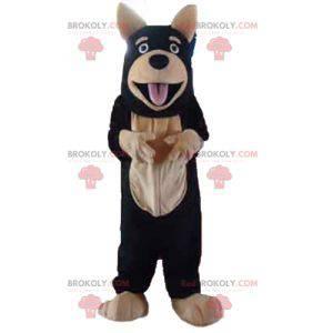 Černý a béžový maskot obřího psa - Redbrokoly.com