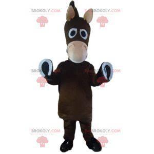 Cute and funny colt donkey brown horse mascot - Redbrokoly.com