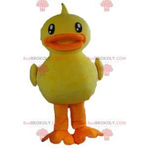 Obří žluté a oranžové kachní kuřátko maskot - Redbrokoly.com