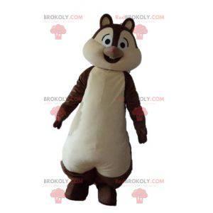 Tic lub Tac brązowo-biała maskotka wiewiórki - Redbrokoly.com