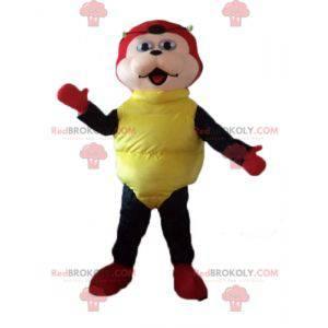 Ladybug mascot red black and yellow polka dots - Redbrokoly.com