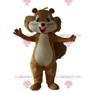 Brun og beige ekorn maskot smilende og hårete - Redbrokoly.com