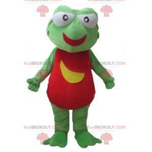 Riesiges rotes und gelbgrünes Froschmaskottchen - Redbrokoly.com