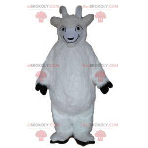 Mascote de cabra cabra branca cabra toda peluda - Redbrokoly.com
