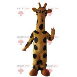 Muy bonita mascota jirafa amarilla y negra grande -