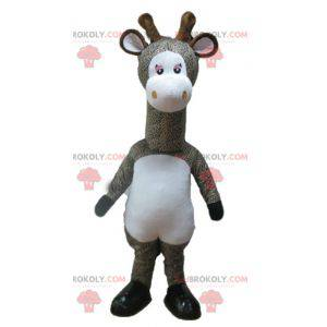 Grijs en wit gevlekte giraf mascotte - Redbrokoly.com