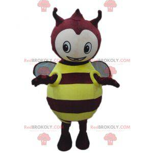 Round and cute yellow and red insect mascot - Redbrokoly.com