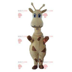 Gigante mascotte giraffa gialla e marrone - Redbrokoly.com