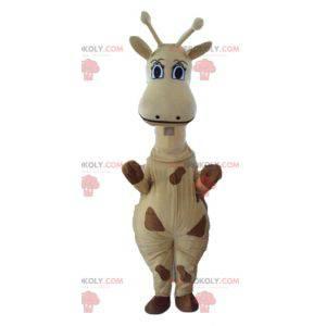 Mascota jirafa gigante amarilla y marrón - Redbrokoly.com