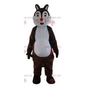 Tic eller Tac brun og hvit ekorn maskot - Redbrokoly.com