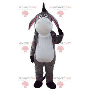 Eeyore donkey mascot white gray and pink - Redbrokoly.com
