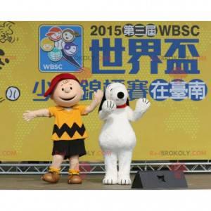 2 berühmte Maskottchen von Charlie Brown und Snoopy -