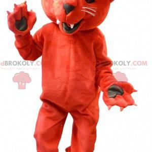 Gigantisk rød tiger maskot - Redbrokoly.com