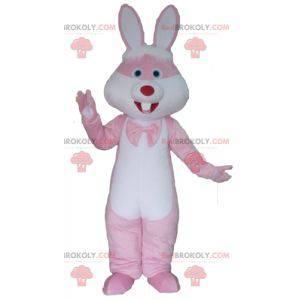 Riesiges rosa und weißes Kaninchenmaskottchen - Redbrokoly.com