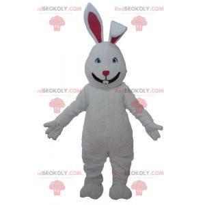 Maskott stor hvit og rød kanin søt og attraktiv - Redbrokoly.com