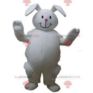 Big plump and cute white rabbit mascot - Redbrokoly.com