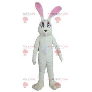 Velmi zábavný velký bílý a růžový maskot králíka -