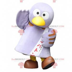 Very funny and cute big purple bird mascot - Redbrokoly.com