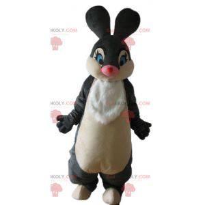 Weiches und elegantes Schwarz-Weiß-Kaninchenmaskottchen -