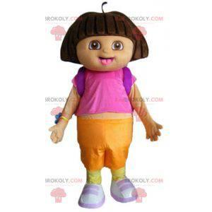 Dora the Explorer beroemde cartoon meisje mascotte -