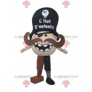 Mascota pirata bigotudo - Redbrokoly.com