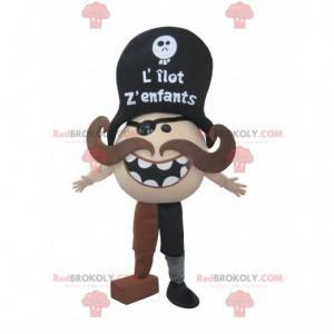 Pirát maskot s knírem - Redbrokoly.com