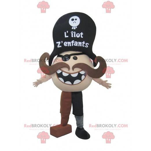 Mustached piratmaskott - Redbrokoly.com