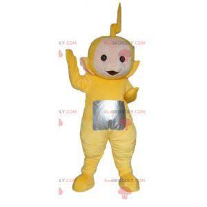 Mascote Laa-Laa, o famoso desenho animado amarelo Teletubbies -