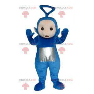 Maskottchen von Tinky Winky, den berühmten blauen Teletubbies -