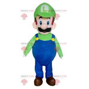 Mascota de personaje de videojuego famoso de Luigi -