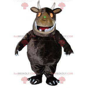 Big brown monster mascot with big teeth - Redbrokoly.com