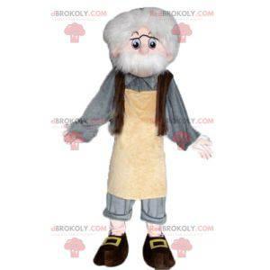 Mascot Geppetto personaje famoso Pinocho - Redbrokoly.com