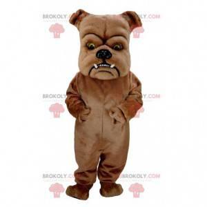 Obří a zastrašující hnědý pes maskot - Redbrokoly.com